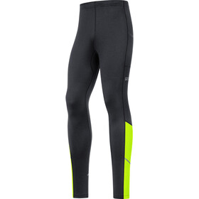GORE WEAR R3 Thermo Leggings Heren, black/neon yellow